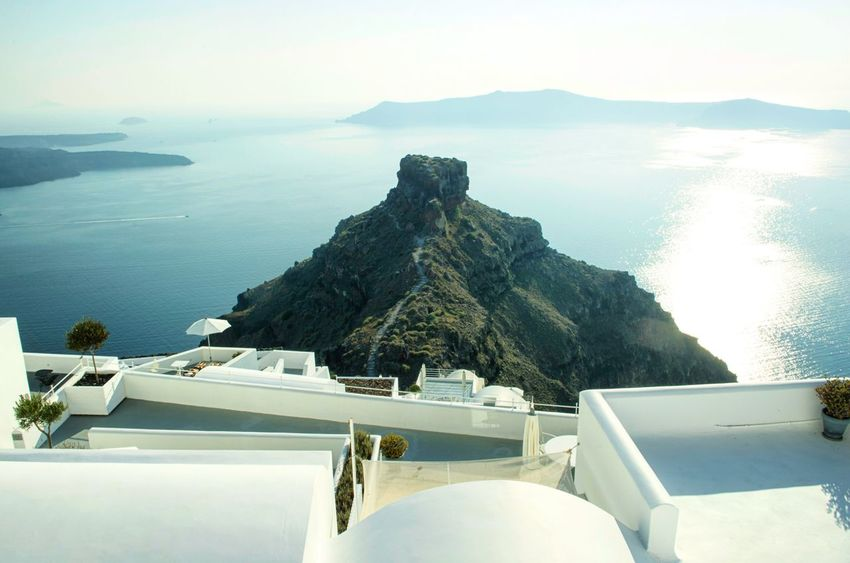Scenics Nature Beauty In Nature Sea Sky Tranquility No People Tranquil Scene Day Water Outdoors Architecture Volcano Greek Santorini