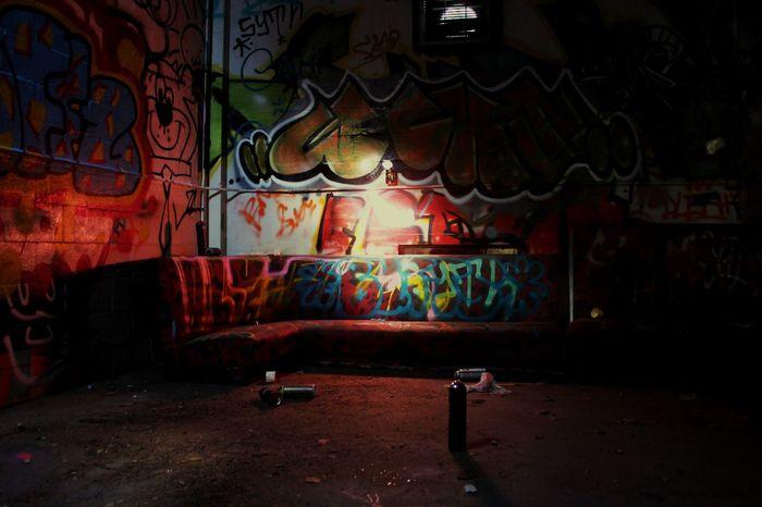 Graffiti Multi Colored Night Illuminated Wynwood Wynwoodwalls Art Miami Mine Artist Close-up Findings EyeEmNewHere
