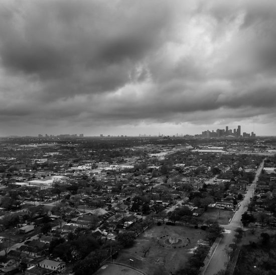 Cityscape Houston Houston Texas HoustonTX Texas Architecture Building Exterior Built Structure City Cityscape Cloud - Sky Crowded Day Dronephotography Nature Outdoors Sky Storm Cloud