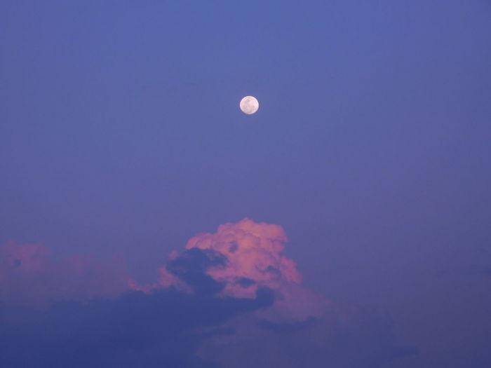Moon at Dusk on