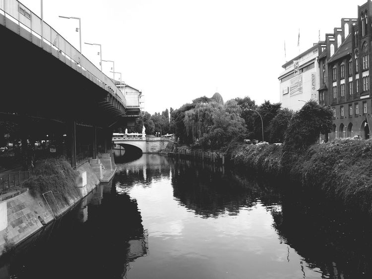 Water Reflections in Berlin Don Filter Blackandwhite
