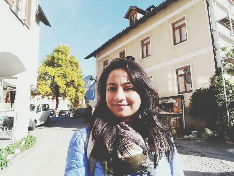 Smiling Selfıe Hallstatt, Austria
