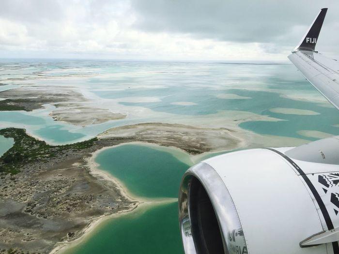 Flying over Christmas Island. Christmasisland Flylikeafijian Fijiairways
