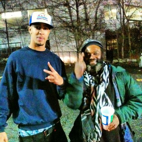 In Atlanta I met the coolest homeless man ever...FLEXXIN WIT REAL PPL !!!