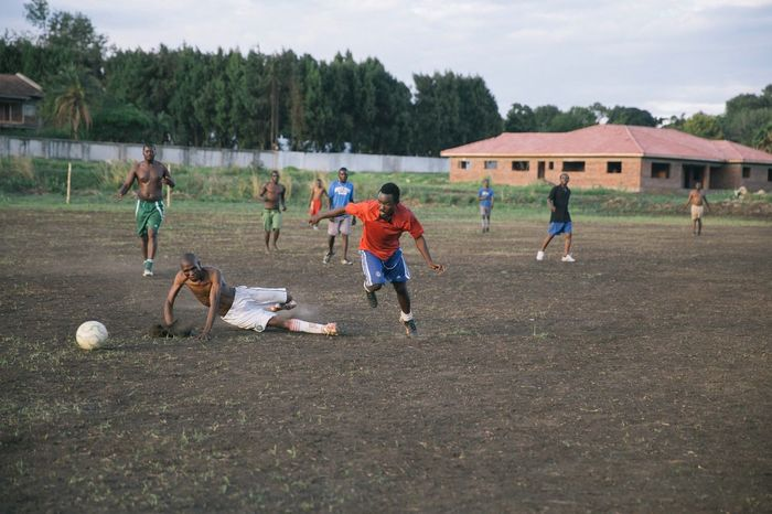 Football match in Harare, Zimbabwe