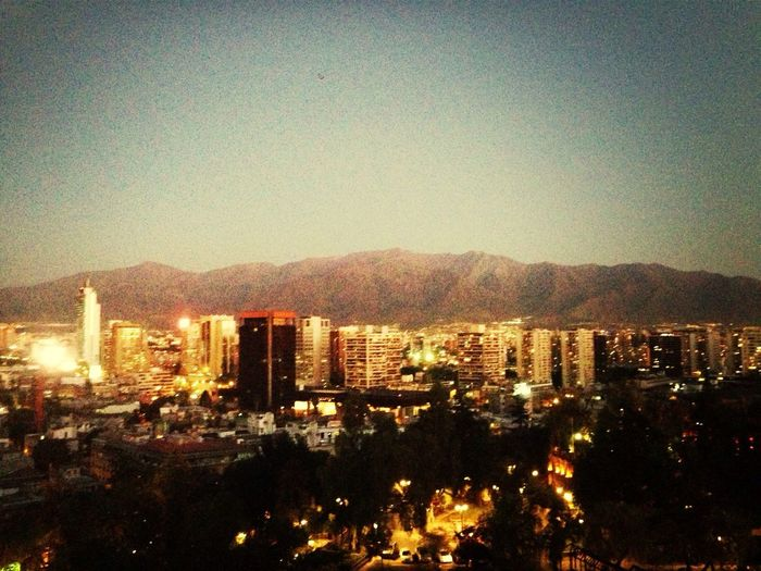 Santiago by night Discover Chile