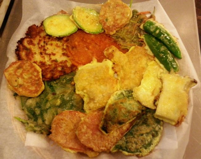 This is Jeon. It's made of sliced meats, various vegetables, flour batter or egg batter. Jeon Korean Food Korean Pancake Food