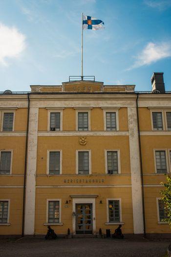 Finland Soumenlinna Architecture Sky Building Exterior Flag Built Structure Window Cloud - Sky
