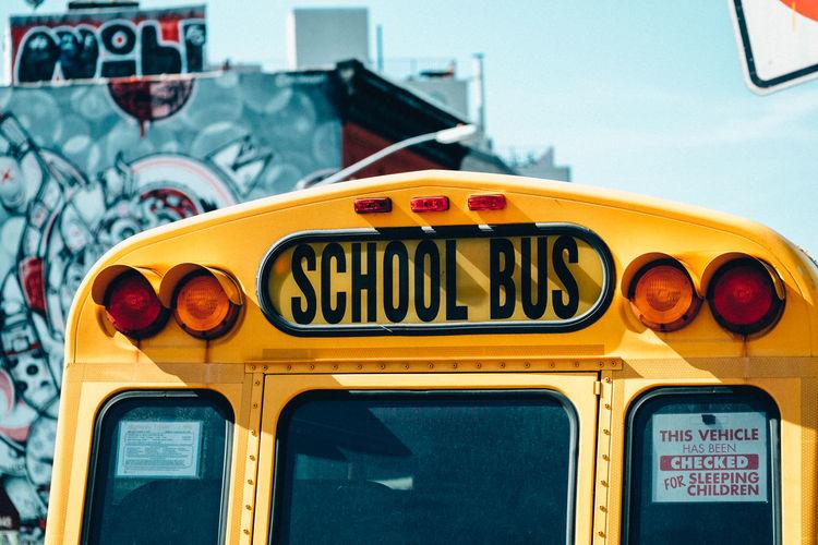 classic Brooklyn Bus New York Rear Rear View School Bus Yo
