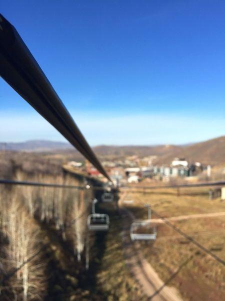 Summer ski adventure. Wires Skiing Ski Chairlift Chair Summer