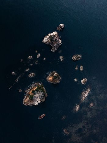 Island Hopping. Shot while flying over the little town of Garibaldi, Oregon. IG @noeldxng Dji Drone  Aerial View Shot From Above  Oregon Coast Boat Fishing Blue Sea Island Sea Stack Seascape Landscape Adventure United States Rock Rock Formation Close-up Floating In Water Calm Lakeside Smooth Plain Background A New Beginning