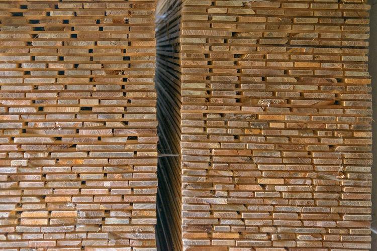 wood stack Wall