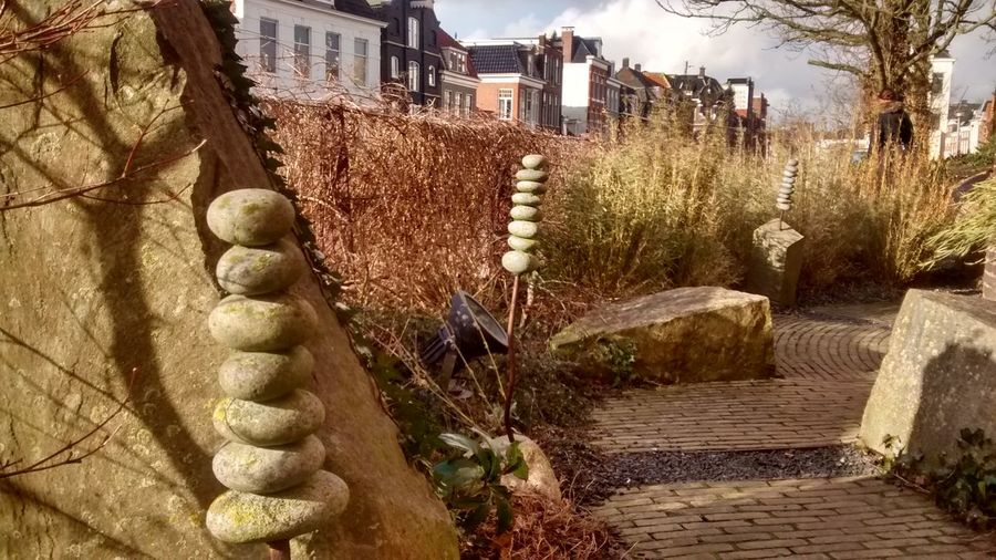 Groningen Holland Nature Netherlands No People Outdoors Pebbles Rock - Object Rock Garden Rocks On A Stic Tranquility