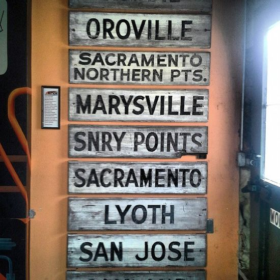 Signs Typography Railroad California Sacramento Words Cities Sanjosé Royalsnappingartists Rail_barons Rsa_theyard Depots Rail_nerds Oroville