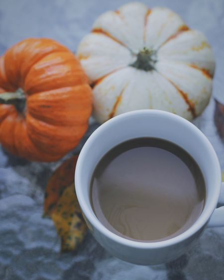 Autumn coffee Season  Porch Life Outdoors Coffee Cup Fall Table Pumpkins Autumn Fall Coffee At Home Coffee Food And Drink Freshness Food Cup Drink Mug Close-up Hot Drink No People Pumpkin High Angle View Refreshment