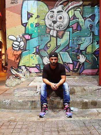 Istanbul Istiklalcaddesi Graffiti Rabbit