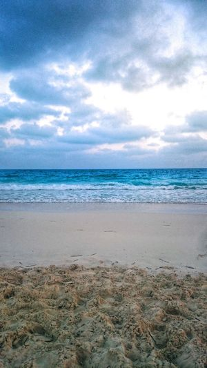 Sea Horizon Over Water Blue Beach Cloud - Sky Sky Sand No People Scenics Outdoors Beauty In Nature Nature Water Day Egypt Northcoast Waves Seascape Long Goodbye The Great Outdoors - 2017 EyeEm Awards