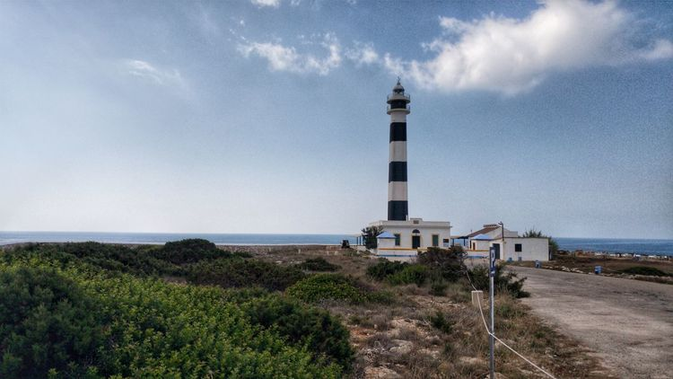 Lighthouse Horizon Over Water Water Sky Day Outdoors Vacations Travel Destinations No People Building Exterior Sea Architecture Menorca