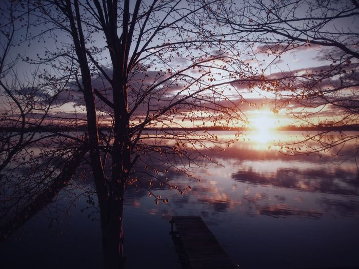Sunset. Rajgród, Poland. Reflection Sunset Water Sky Lake Tree Sun Nature Scenics Beauty In Nature Sunlight EyeEm Best Shots VSCO EyeEm Best Edits Landscape The Great Outdoors - 2017 EyeEm Awards
