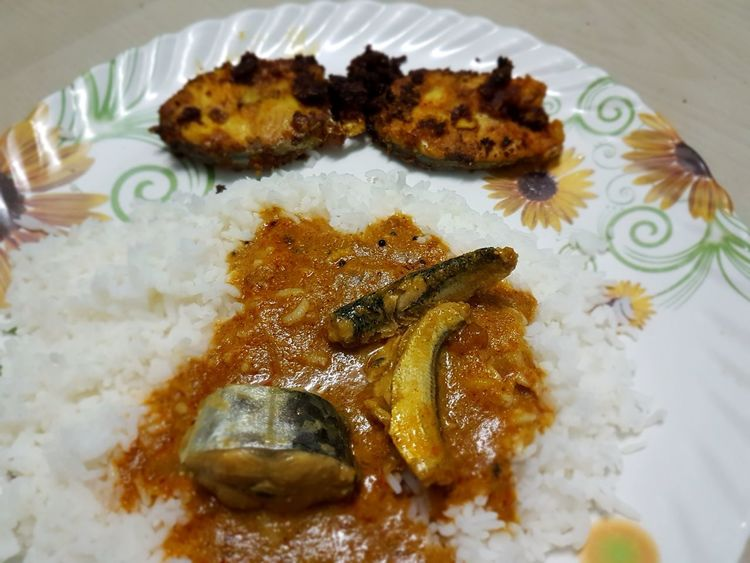 One of the great Spice Indian food in Tamil nadu non Non Veg has rice,fish