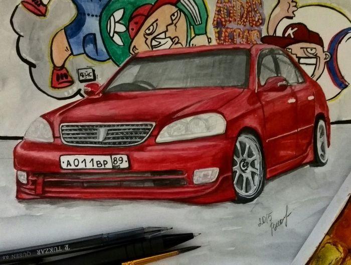 рисунок цветной Авто Car каляки маляки Beautiful ♥ Drawing ✏ Art