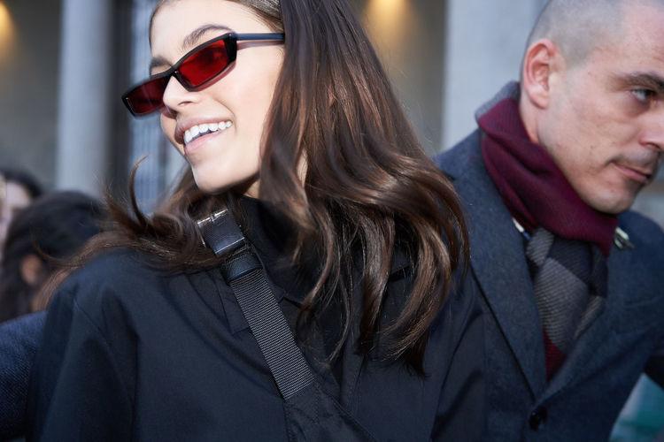 Kaia Gerber outside Ferretti show at Milan Fashion Week, February 2018 Fashion Kaia Kaia Gerber Mfw2018 Mfw Milan Fashion Week Style Sunglasses