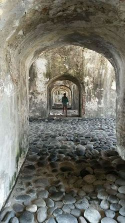 Day One Person Veracruz,México Arquitecture Adult Young Adult San Juan De Ulua Arch Indoors  Water Full Length Adult Child One Woman Only People Architecture Only Women
