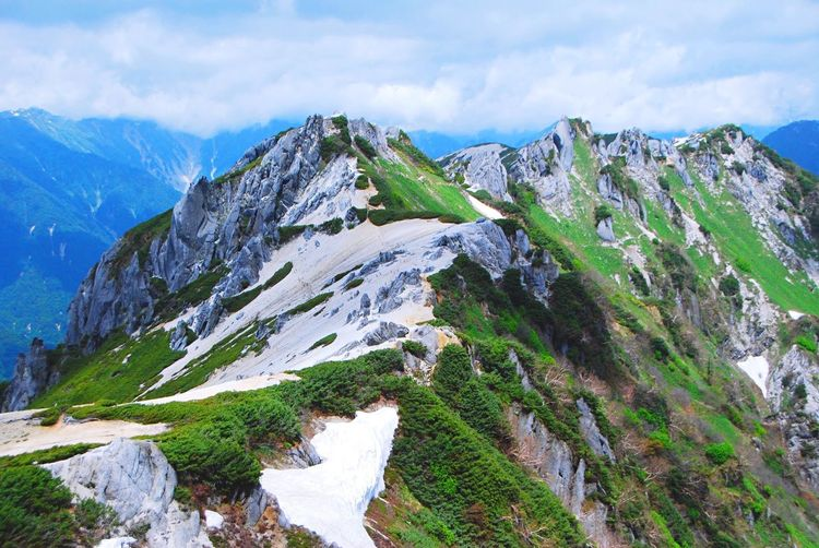 Mountain Tranquil Scene Tranquility Scenics Mountain Range Beauty In Nature Landscape Nature Narrow Non-urban Scene Sky Day Cloud Majestic Cloud - Sky Solitude Green Outdoors Remote Curve