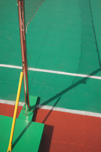 High angle view of net