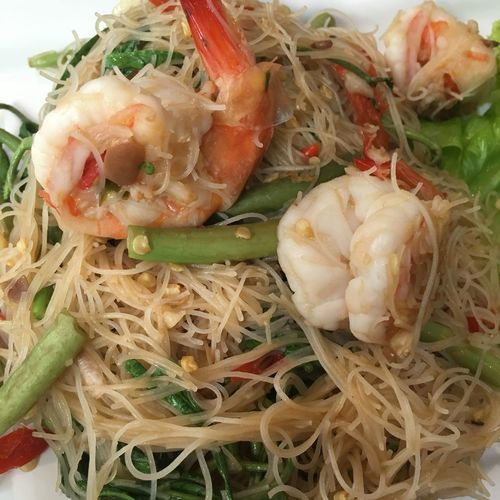 Thaifoods Thaispice Thaispicyfood Food Shrimps Noodles Watermisona Vetgetables Spicyfood Chili  Sauce Hot Tasty Taste Good