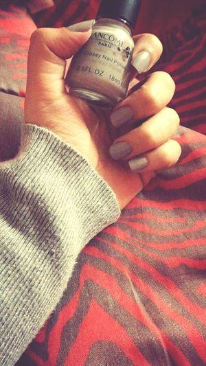 Human Hand Lifestyles Close-up Graynailpolish Nailpolish Morning Snapchat Me Indoors  Home Sweet Home