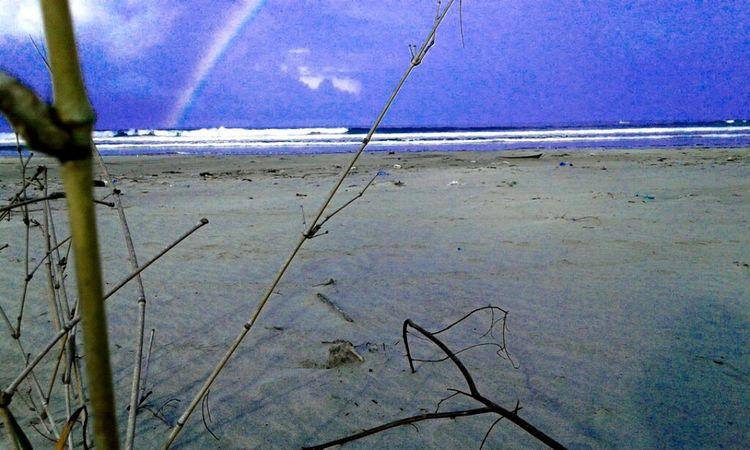 Good morning^^ rainbow in the morning at longbeach..Bengkulu city Blue Sky Rainbow Beach Photography Beautiful Nature INDONESIA Explorebengkulu Bengkulu