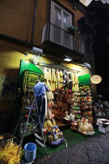 Napoli Architecture Building Exterior Built Structure City Food Freshness Italy Men Outdoors Pasta Retail  Street