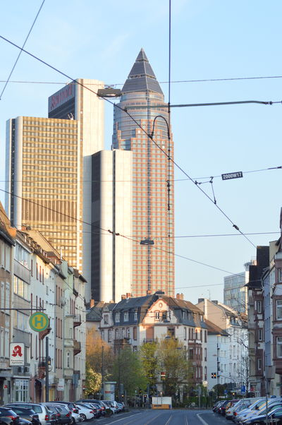 Architecture Building Building Exterior Built Structure City City Life City Street Day Europe Frankfurt Frankfurt Am Main Frankfurtammain Germany Modern Office Building Old And New Old And New Architecture Street Tall - High Tower