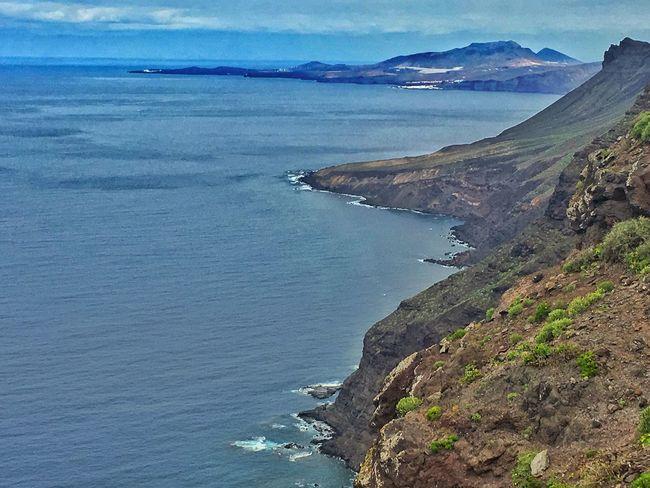 Beauty In Nature Scenics Sea Coastline Outdoors Day Gran Canaria Tranquil Scene Today :)