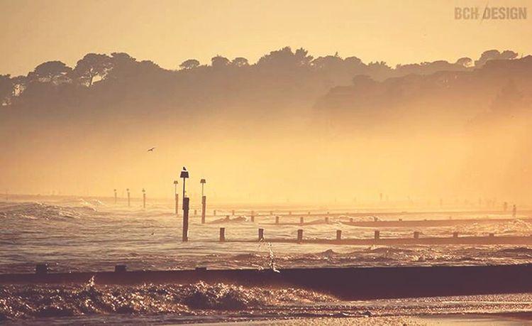 Bchdesign Sea Bournemouth Beach Fog Sillhouette Splash