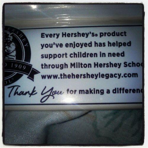 Your welcome Hersheys CookiesNcream