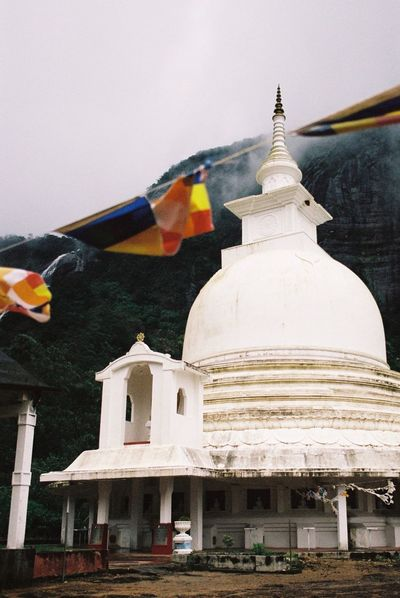 Film Photography 35mm Film Filmisnotdead Analogue Photography Explore Built Structure Architecture Religion Building Exterior Spirituality Belief Place Of Worship Travel Destinations Flag Outdoors Travel Shrine