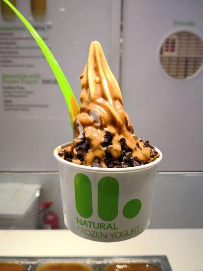 Yogurt Icecream Delicious Dessert Yogurt Caramel Oreo Crumbs EyeEm Selects Ice Cream