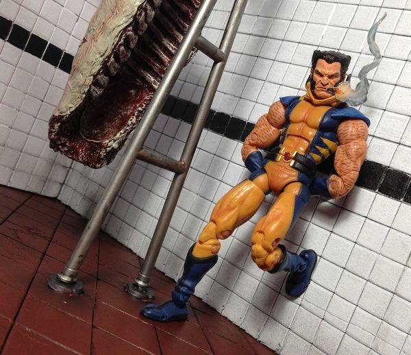 ACBA Articulatedcomicbookart Diorama Diostructure Wolverine Xmen Marvellegends