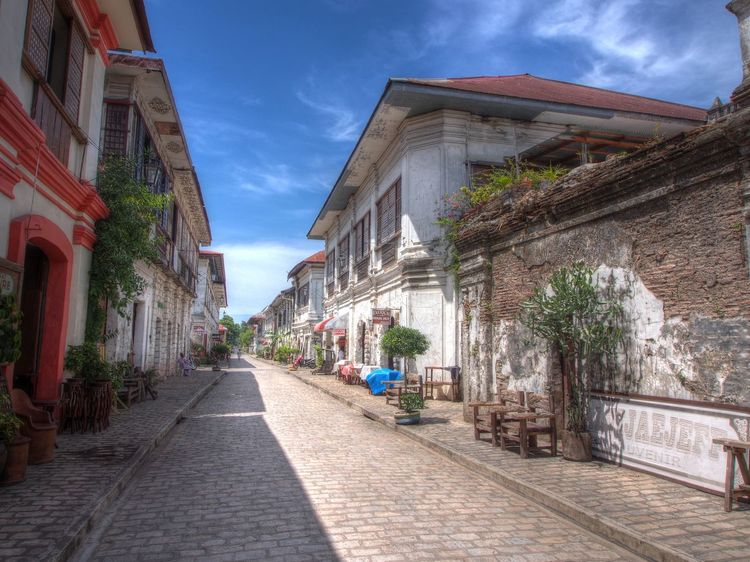 Architecture Blue Sky Building Exterior City Colonial Architecture Hdr Edit No People Street Street Photography UNESCO World Heritage Site Vigan Philippines