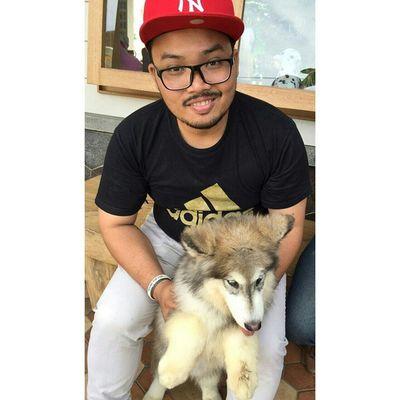 Siberian Husky Siberianhusky Doglover Indo Indonesian Puppies Husky Manbehindlens Fricosihaloho Bandung Wonderfullindonesia Pesonabandung Self Selfies