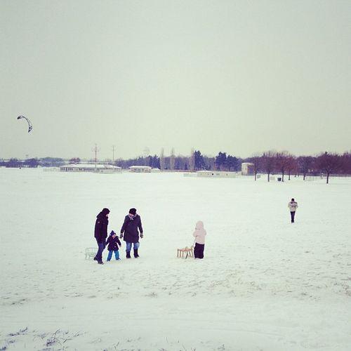 #snow #schnee #tempelhof #berlin #sleighs #winter Berlin Winter Snow Schnee Tempelhof Sleighs