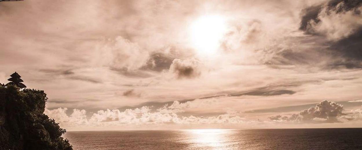 Landscape Cloud - Sky Dramatic Sky Travel Sun Sunbeam Nature Scenics Sunset Bali Bali, Indonesia Uluwatu Temple
