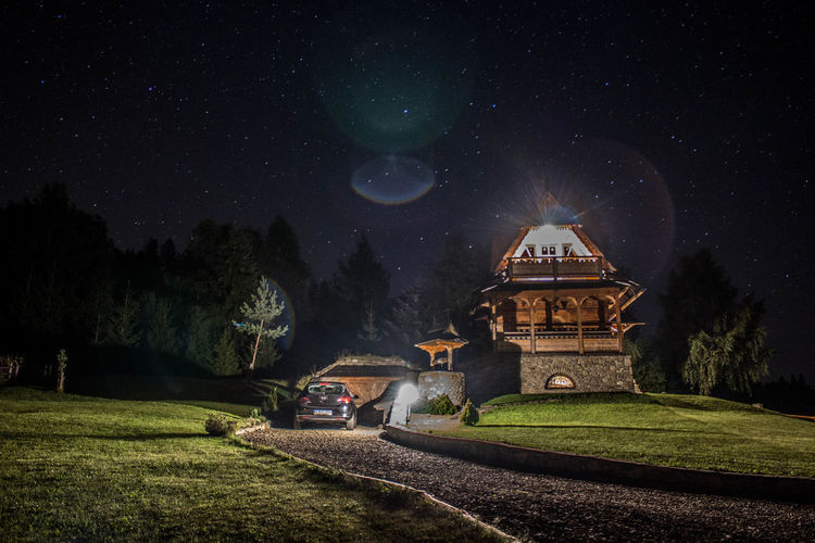 Architecture Mountain Night Outdoors Sky Space Star - Space