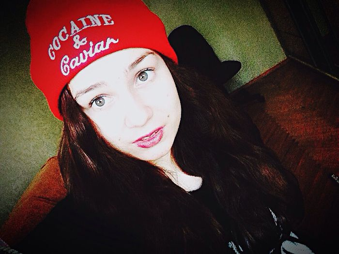 My new hat. 😂 Cool Cocaine And Caviar Red First Eyeem Photo