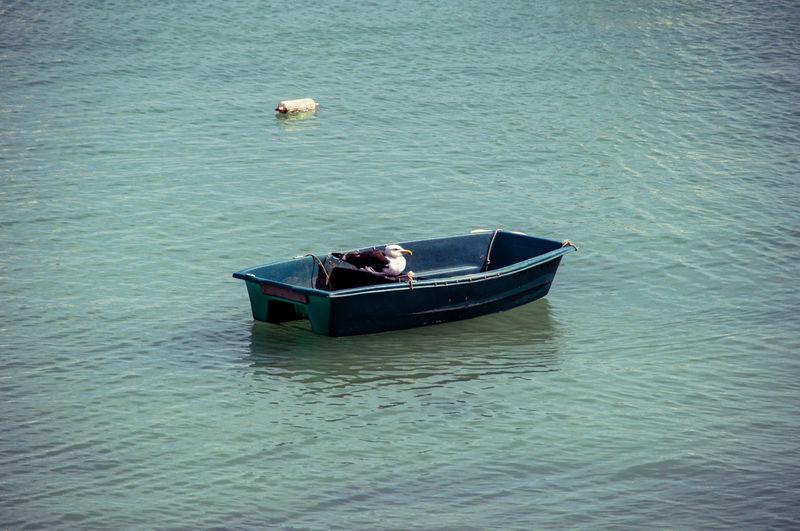 Boat Floating On Sea
