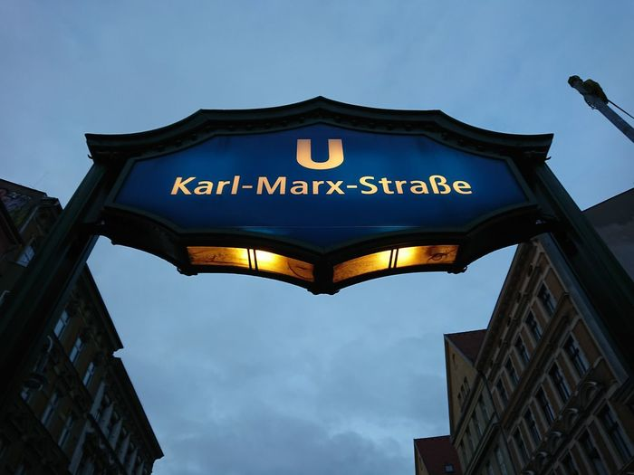 Karl Marx Strasse U-bahn station in Berlin Metro Ubahn Berlin UbahnStation Underground Underground Station  Architecture Karl Marx Straße Metro Station No People Outdoors Subway Subway Station Ubahn Underground Signs