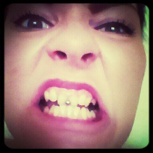 Crazy Face !! Piercing Work Time Boring!