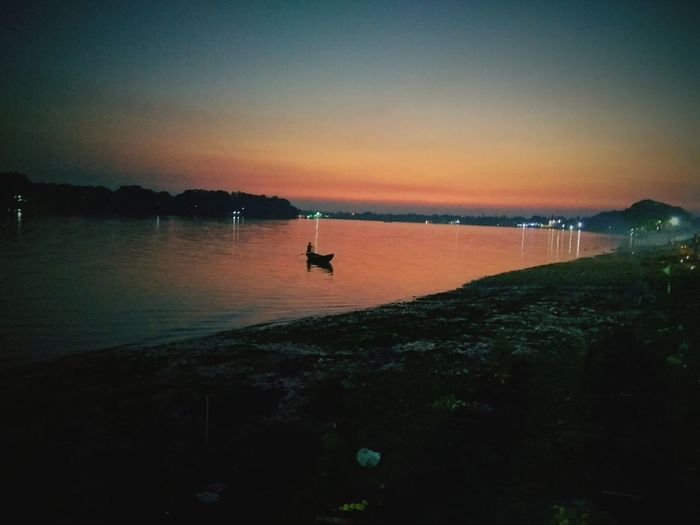 Ganga_india_2016 Sunset Beauty In Nature First Eyeem Photo
